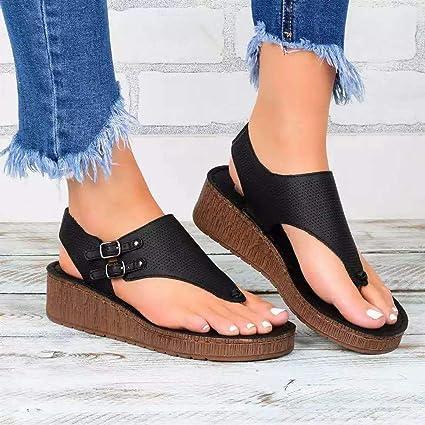 HYWL Women's Wedge Sandal Plantar
