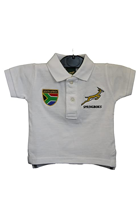 Sudáfrica Springbok - Polo para hombre blanco blanco Talla:6-12 ...