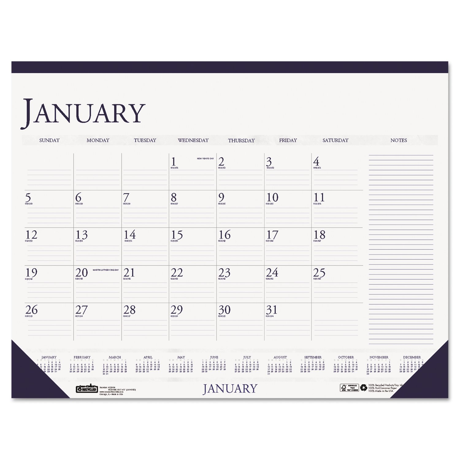 Amazon House of Doolittle Recycled Two Color Monthly Desk Pad