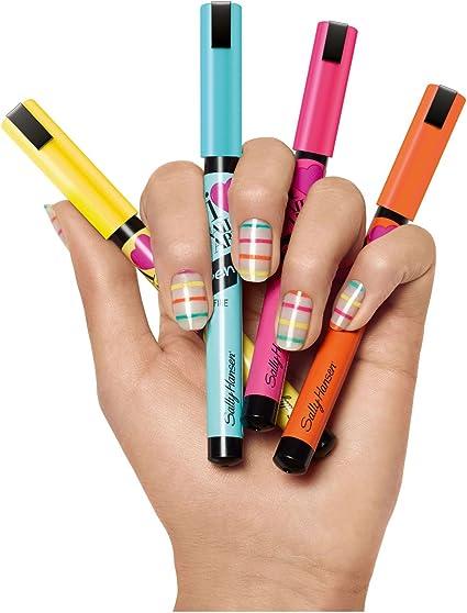Amazon Com Sally Hansen Nail Art Pen Lot Of 5 Different Pens Health Personal Care
