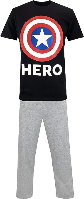 Marvel Pijama para Hombre Captain America: Amazon.es: Ropa y accesorios