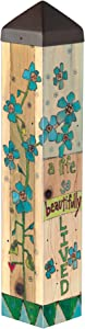 Studio M A Beautiful Life Art Pole Memorial Bereavement Outdoor Decorative Garden Post, Made in USA, 20 Inches Tall