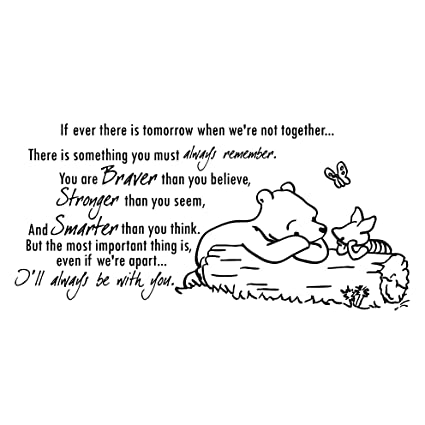 Amazon.com: Wall Decals Quotes Winnie the Pooh Quote ...
