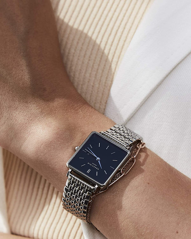 Rosefield Reloj Analógico para Mujer de Cuarzo con Correa en Acero Inoxidable QBSS-Q07: Amazon.es: Relojes