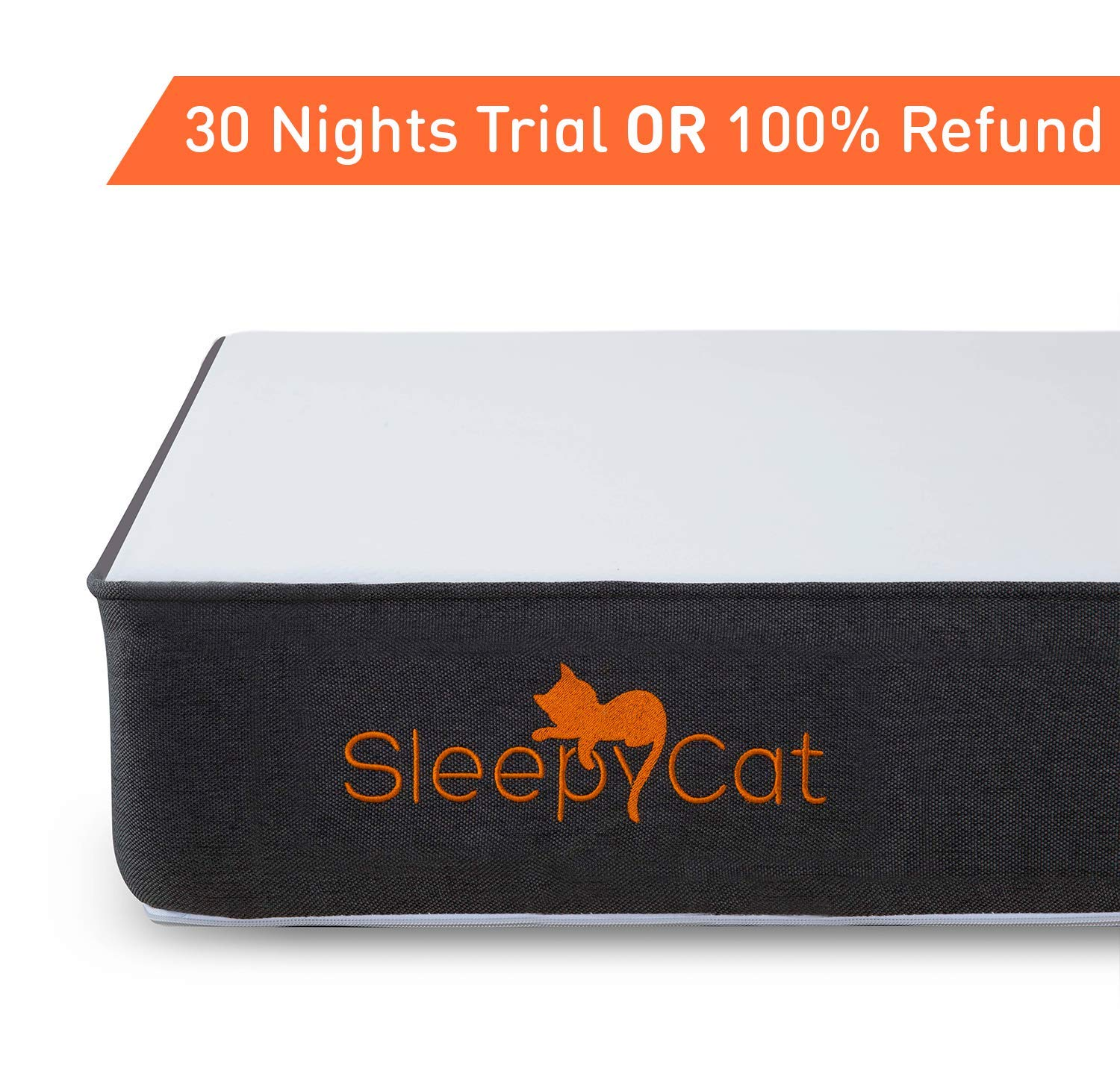 SleepyCat Orthopedic Gel Memory Foam Mattress (75x36x6 inches)