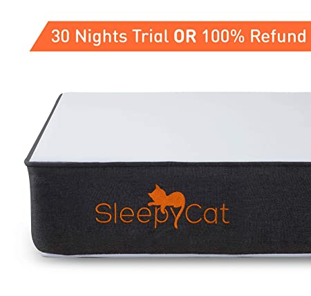 SleepyCat - Orthopedic Gel Memory Foam Mattress (78x72x6 inches)