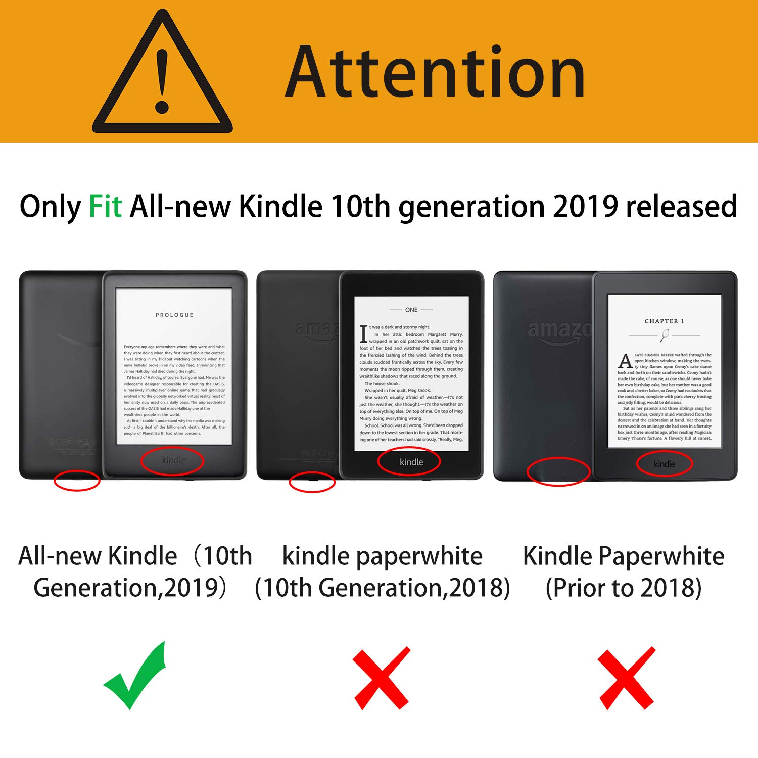 Amazon.com: OMOTON All-New Kindle 2019 Case Cover (2 Pack ...