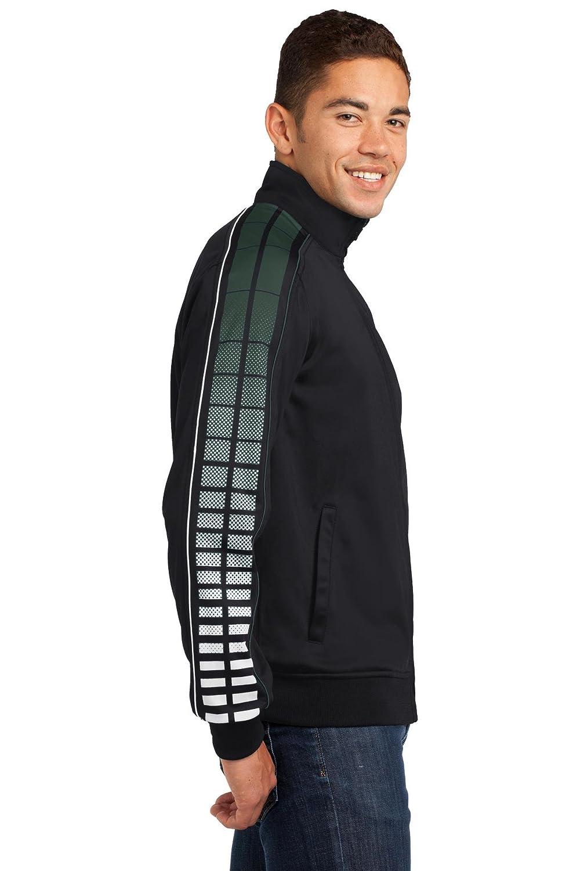 Sport-Tek Mens Dot Sublimation Tricot Track Jacket Sport-Tek JST93