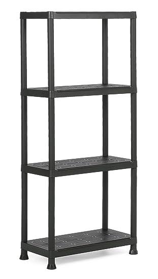 Kis 9503000 0022 01 Plus 60/4 Étagère  Plastique  Noir 60 x 30 x 135 cm