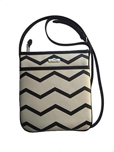 Ralph Lauren Kirby Vanilla   Black Flat Crossbody Bag  Amazon.co.uk  Shoes    Bags 9cfbe6a314