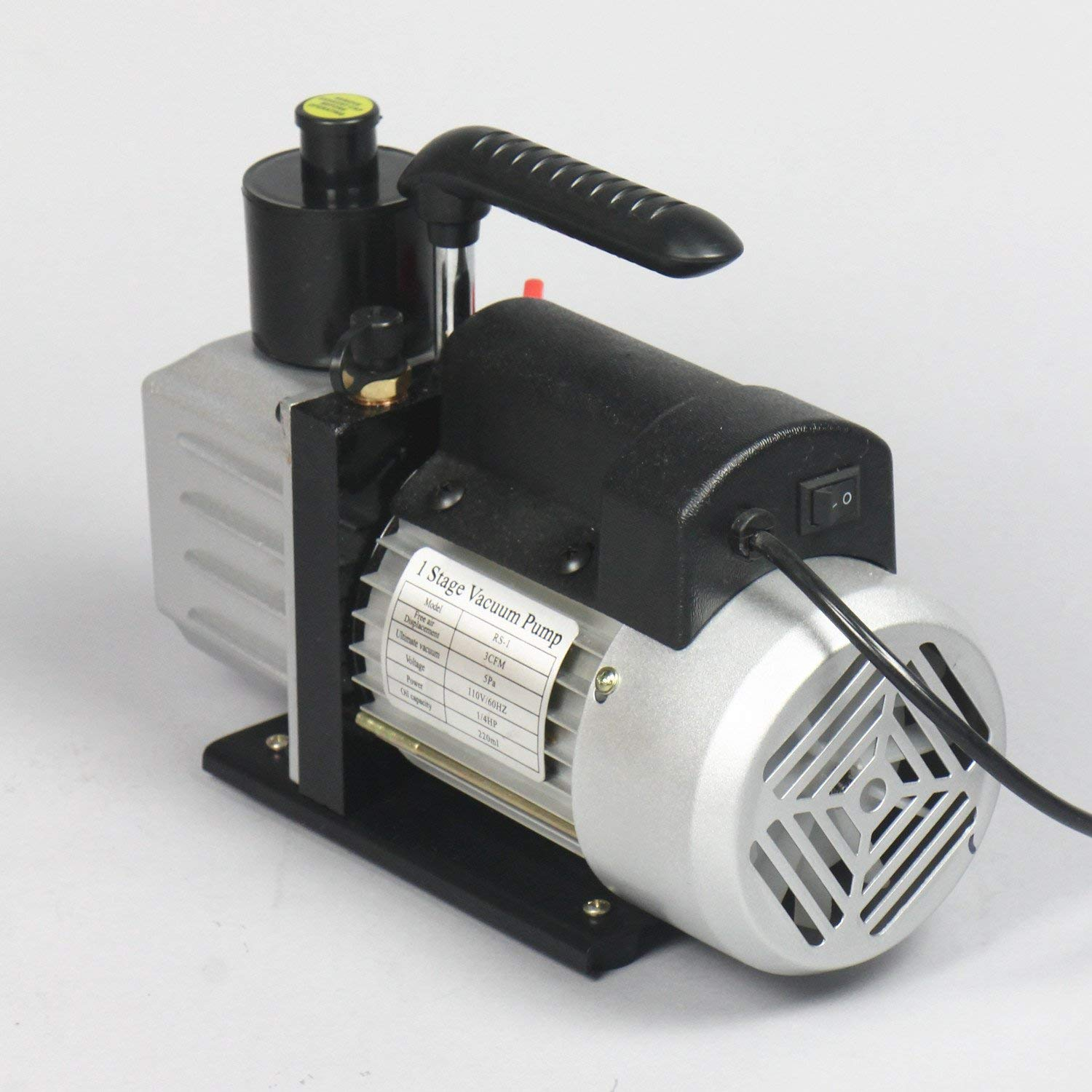 Pump Oil Not Included Ablaze 3 CFM Single Stage Vacuum Pump Perfect for Vacuum Chamber Series