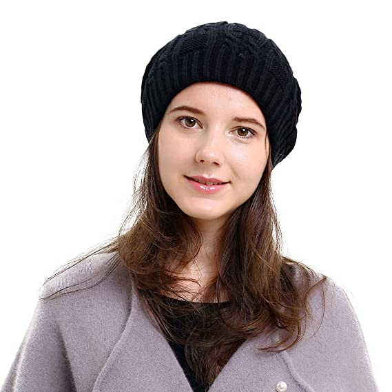 Slouchy Beanie Winter Ski Baggy Hat Double Layer Soft Oversized Cable Knit  Cap at Amazon Women s Clothing store  beafeb76284f