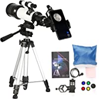Jieson Telescopes for Adults Astronomy Professional 70mm Aperture Telescope with Tripod High Definition Telescope with 1.5X Magnification Eyepieces Astronomical Refracting Telescope Beginners Gifts