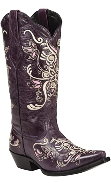 Amazon.com | Black Star COSTILLA (Purple) Women's Cowboy Boots | Boots