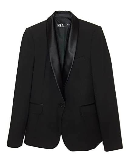 32014389 Zara Women's Contrast Shawl Collar Blazer 2124/783: Amazon.co.uk ...