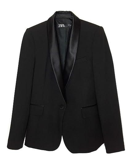 e41c8894 Zara Women's Contrast Shawl Collar Blazer 2124/783: Amazon.co.uk ...