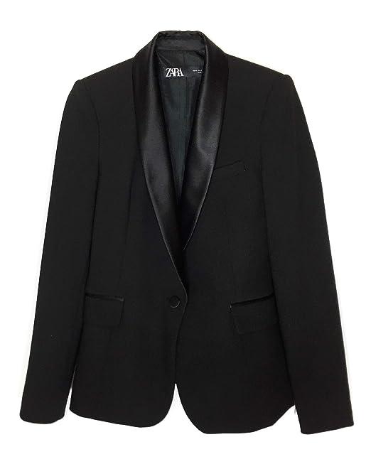 44a599946c067 Zara Donna Blazer Stile Smoking con Revers Abbinato 2124 783  Amazon.it   Abbigliamento