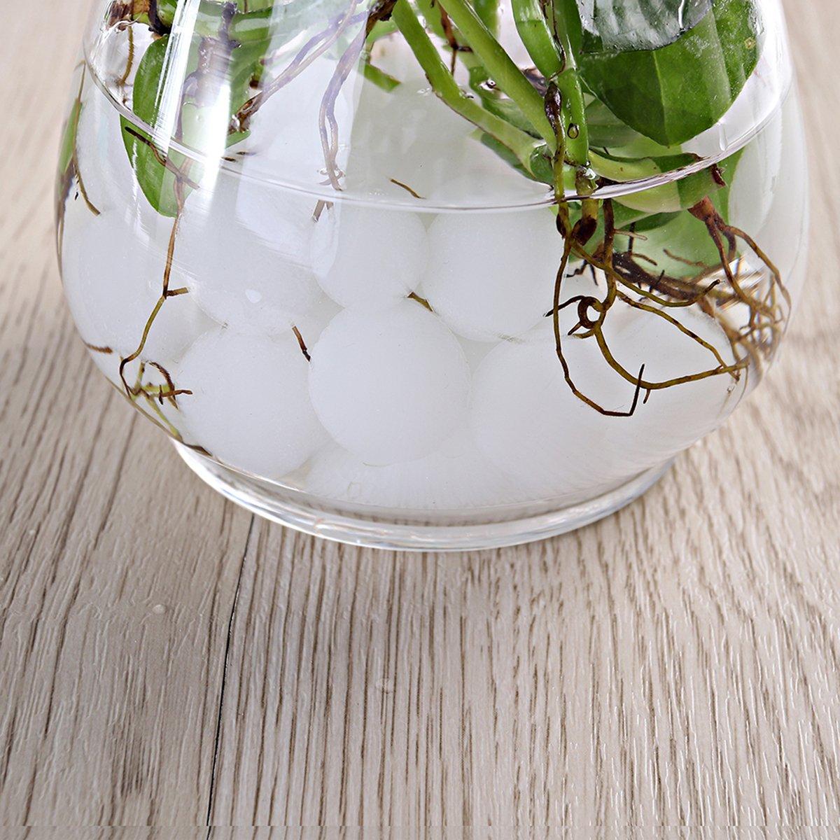 271594055 WINOMO 3000pcs agua perlas cristal gel bolas para florero relleno boda  centerpiece decoración del hogar 2,5-3mm (blanco): Amazon.es: Hogar