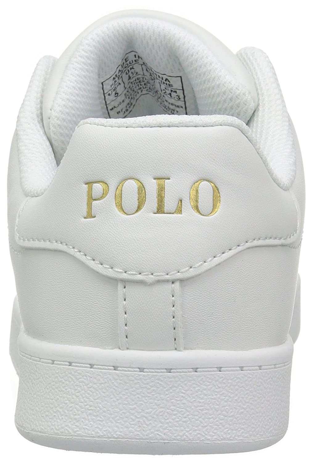 c6df0a90 Polo Ralph Lauren QUINCEY COURT Sneakers Child, White Tumbled White ...