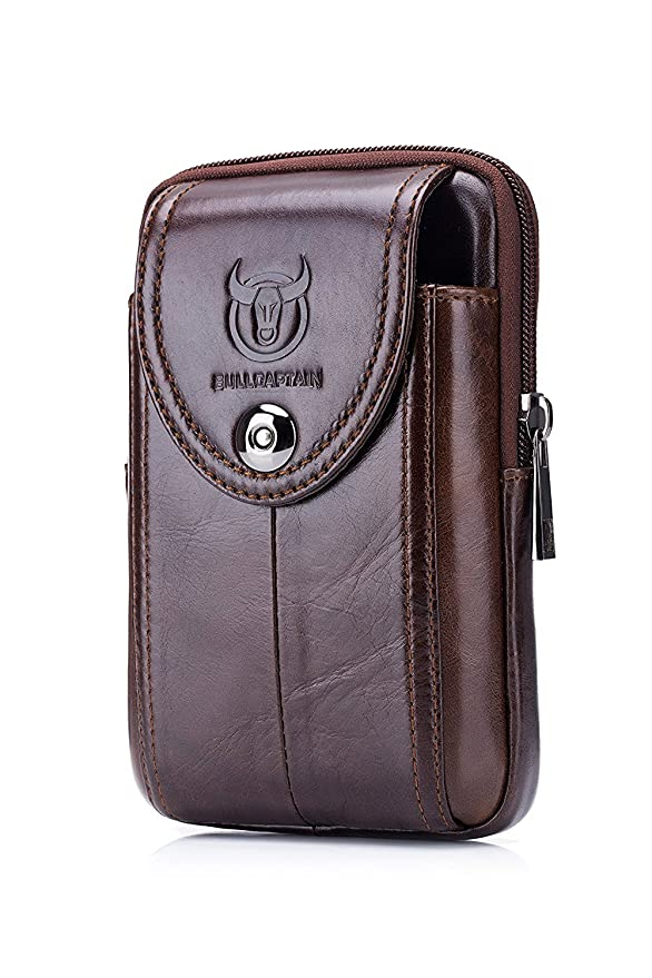 WeeDee Riñonera Hombre Cuero Bolsa Bolso de Cintura Cinturón Bolsillo  Cartera Funda para 4~6 Pulgada Smartphone iPhone 8 7 6 Plus Samsung Galaxy  S8 Note 8  ... a7e4c5205af0
