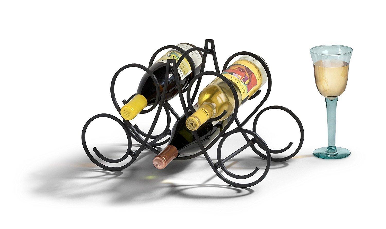 Spectrum Diversified Under Cabinet Wine Rack and Stemware Rack 6-Bottle//6-Stems Chrome 49170