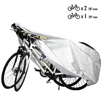 Favoto Funda para Bicicleta Exterior 210D Cubierta Protector al Aire Libre contra Sol Polvo para Montaña Carretera XL Negro y Plata: Amazon.es: Deportes y ...