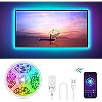 Gosund 2.8Mts Tira Led TV/PC, Luces LED Wifi USB Control Remoto para Ajustar 16Millones Colores y Brillo, Compatible con…
