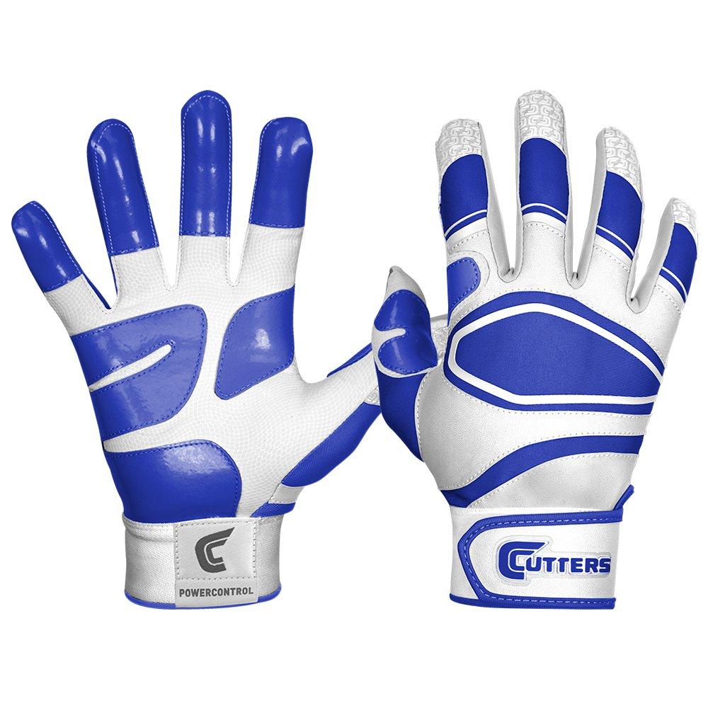 カッター手袋メンズ電源コントロール野球バッティンググローブ B00G6JALQ2 Medium ホワイト/ロイヤルブルー ホワイト/ロイヤルブルー Medium