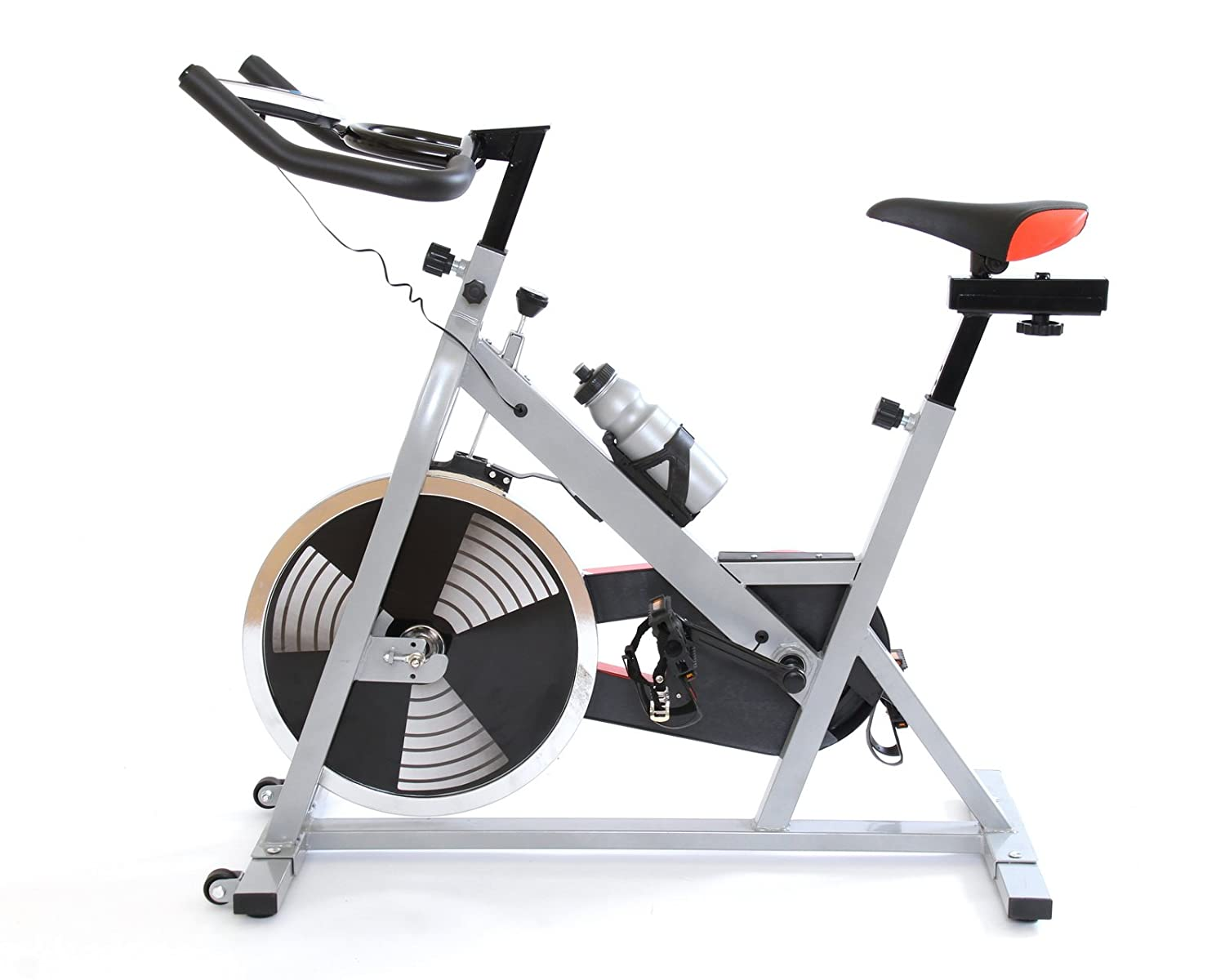 Gym Master Sb465 Exercise Bike Silver Red 123x51x135cm Amazon