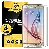 NEARPOW [3 Pack] Protector de Pantalla para Samsung Galaxy S6 Cristal Vidrio Templado [9H Dureza] [Alta Definicion] [Sin Burbu]