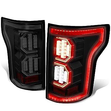 Ford F  D Led Light Bar Tail Lights Lamp Smoked Lens Black