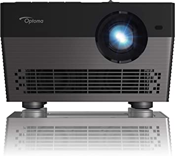 Optoma UHL55 4K LED Smart Projector with HDR, Bright 1500 lumens, Works with Alexa and Google Assistant, for Home Theaters and Outdoors, Auto Focus, ...