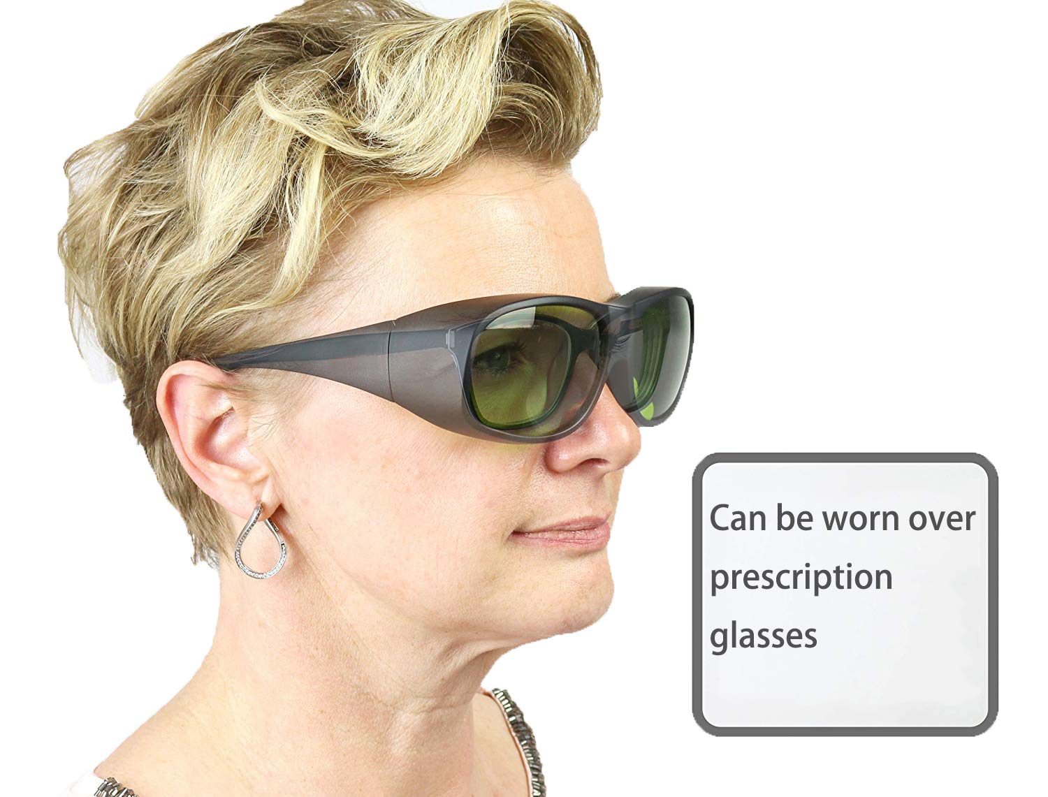 LP-LaserPair Laser Glasses 800 - 1100nm Absorption Type of Laser Protective Glasses Diode, Nd:yag Laser Protection Glasses Multi Wavelength 808nm, 980nm, 1064nm, Laser Safety Glasses by LP-LaserPair (Image #2)