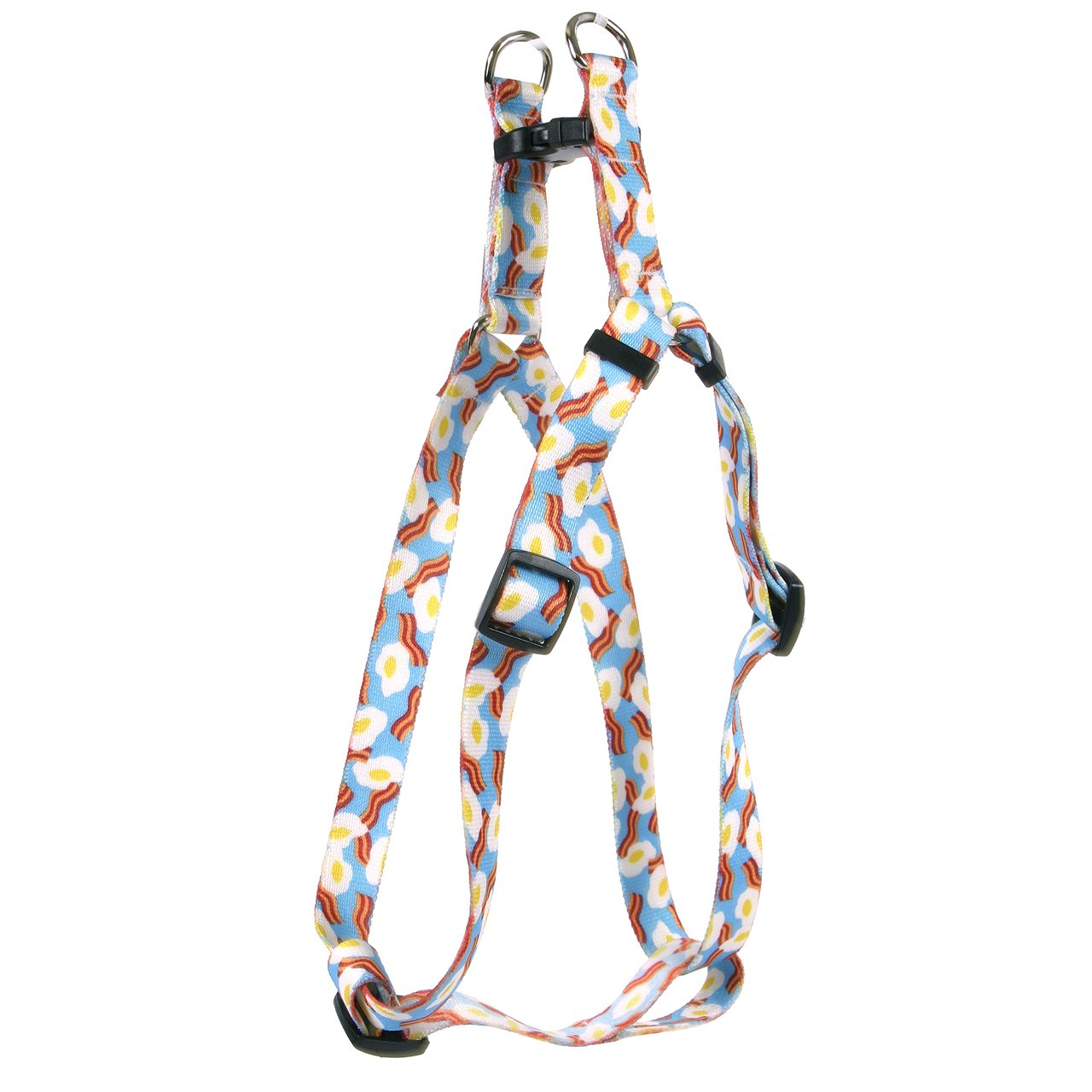 Yellow Dog Design Standard Step-in Harness, Bacon & Eggs, Extra Small 4.5'' - 9''