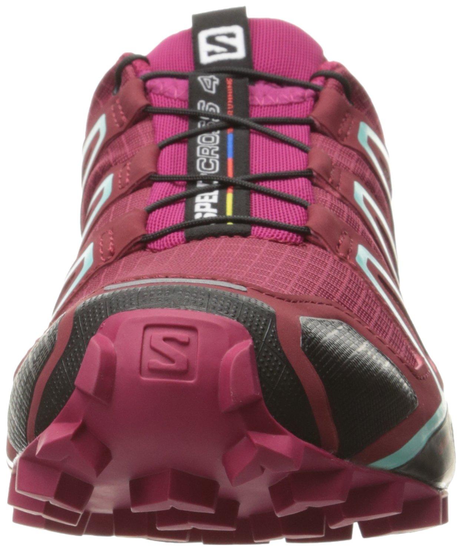 Salomon Women's Speedcross 4 W Trail Runner B01HD2RN66 9.5 B(M) US|Tibetan Red/Sangria/Black