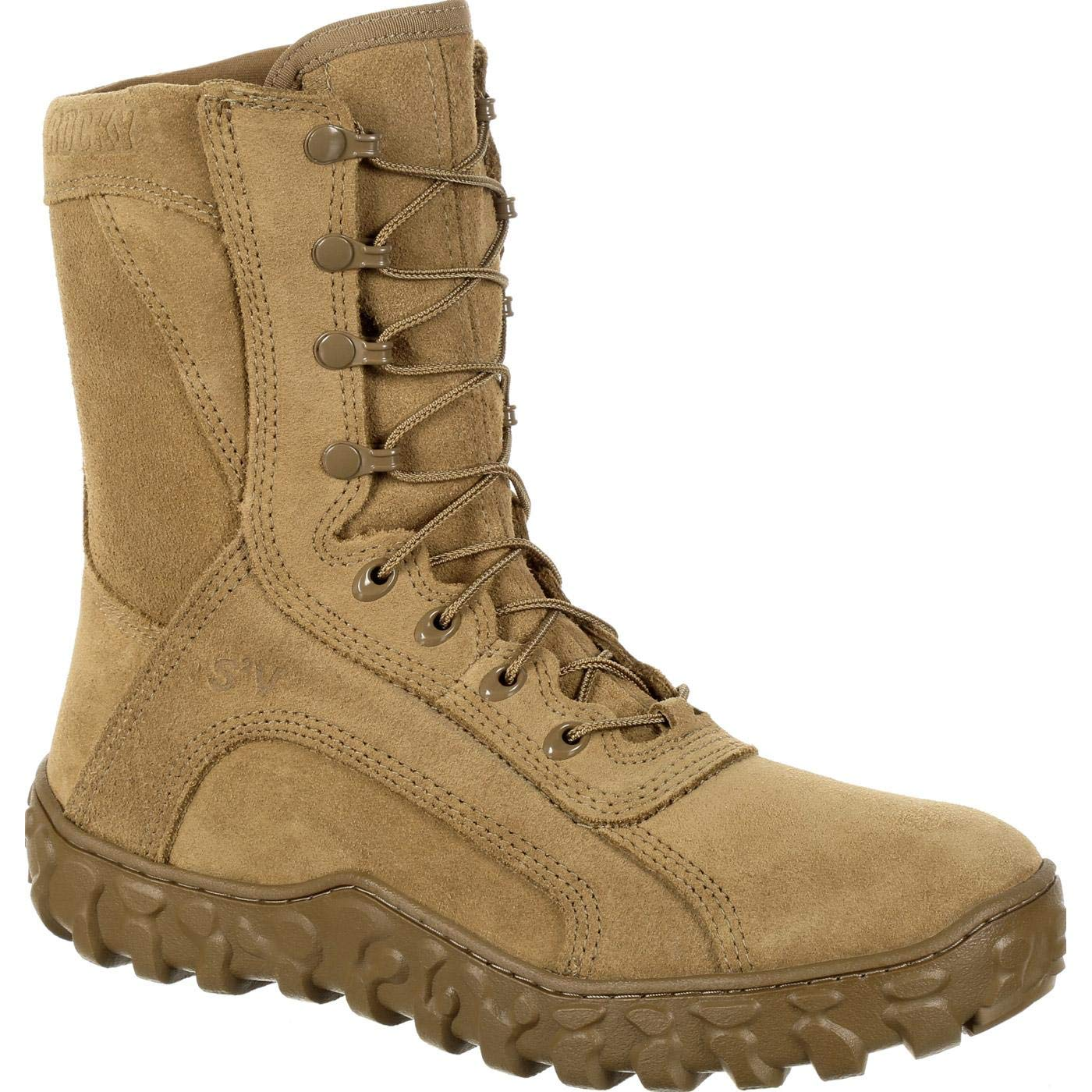 Rocky Men's 8'' S2V Tactical Military Boots, Tan, 11 M by ROCKY