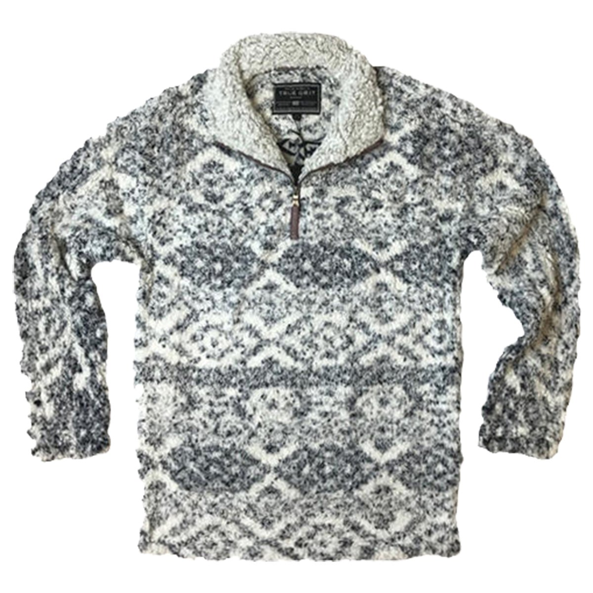 True Grit Men's Frosty Tipped Pile 1/4 Zip Pullover, Tribal Putty, L by True Grit (Image #1)