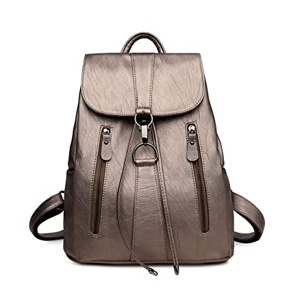 Image Unavailable. Image not available for. Color  Leather Backpack Woman  Fashion ... 954338a218