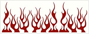 LiteMark Reflective Assorted 4 Inch Flames Sticker Decals for Helmets, Bicycles, Strollers, Wheelchairs and More - Pack of 9