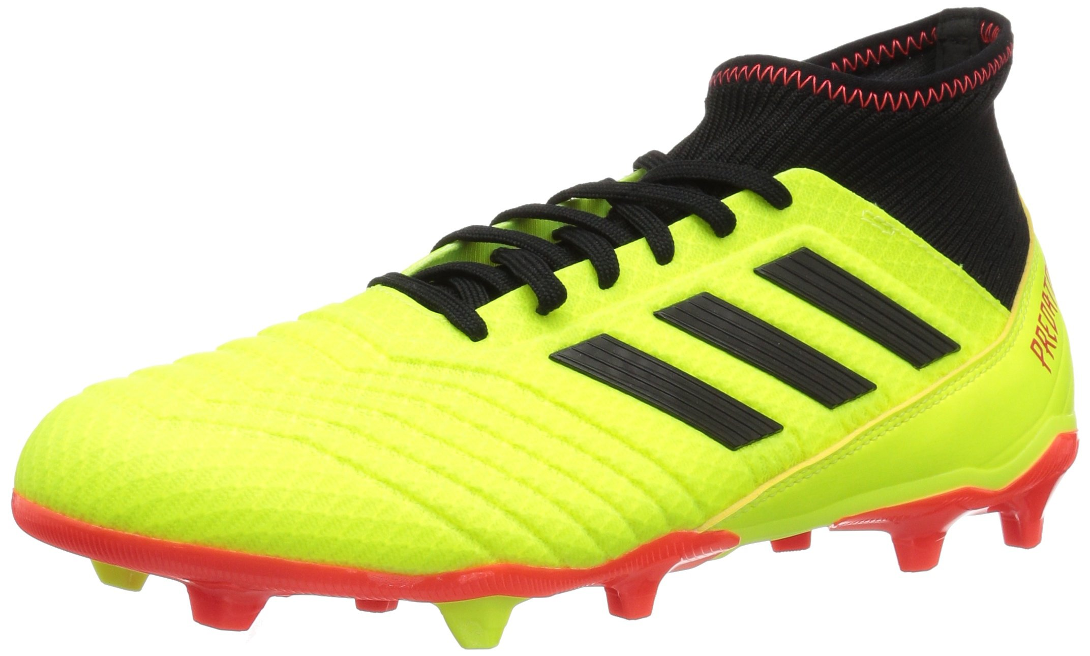 adidas Men's Predator 18.3 Firm Ground Soccer Shoe, Solar Yellow/Black/Solar Red, 12.5 M US by adidas