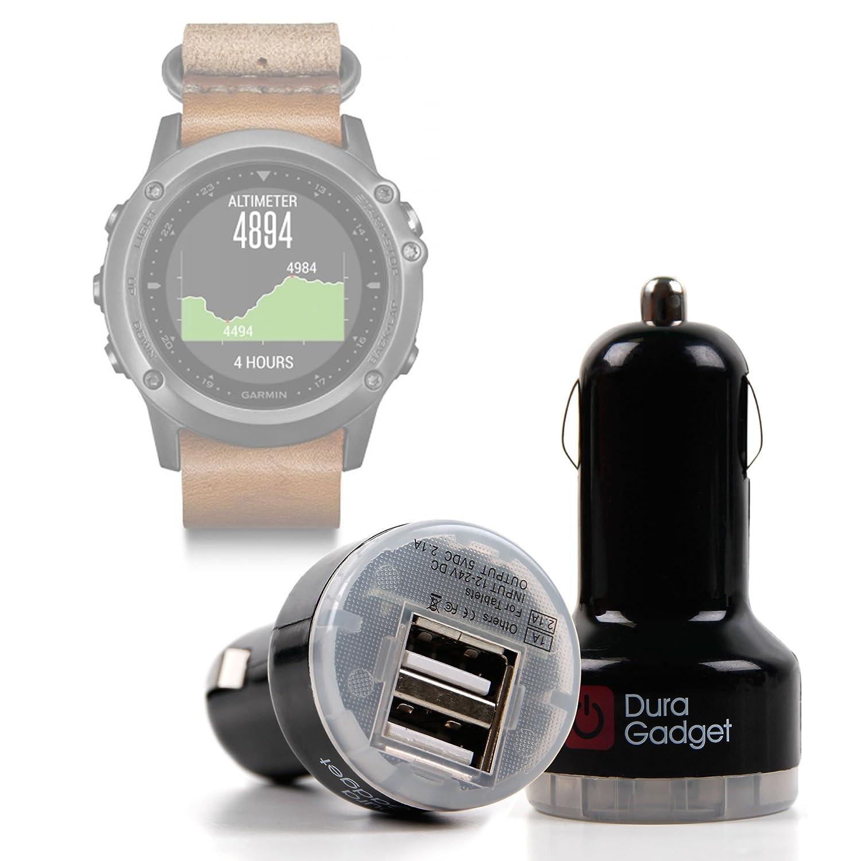 DURAGADGET Cargador Mechero del Coche para Smartwatch Garmin ...