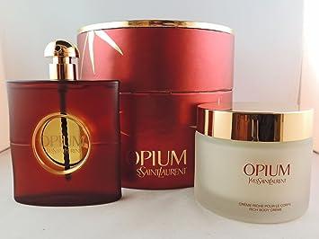 1e237d52d43 Amazon.com : Opium YSL Perfume For Women Gift Set - 3 fl oz EDP Spray AND 6.6  fl oz Body Cream : Fragrance Sets : Beauty