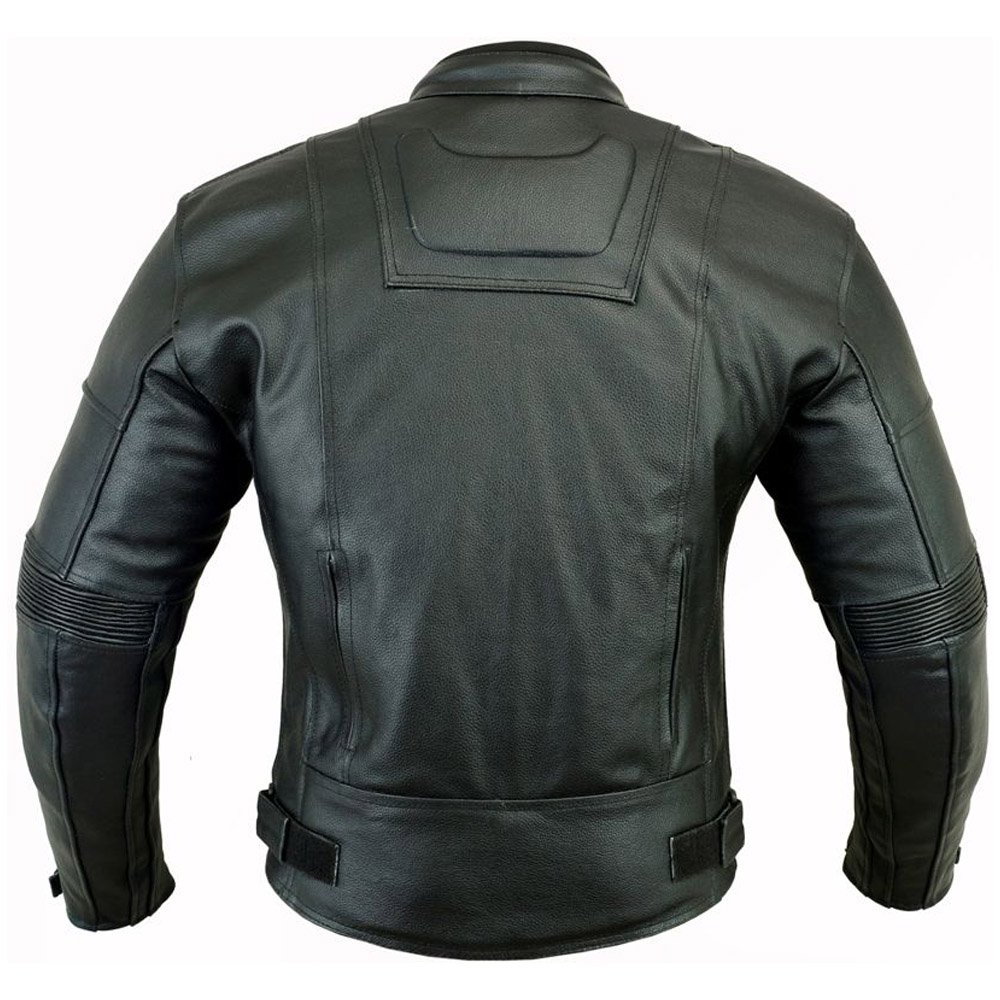 DARK RIDER STYLE HIGH QUALITY MENS CE MOTORBIKE MOTORCYCLE WINTER LEATHER JACKET 3XL