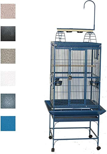 a e 24 x22 Play Top Cage with 5 8 Bar Spacing 8002422 Green