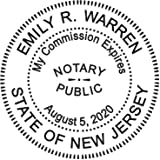 Round Notary Stamp For State Of New Jersey Self Inking