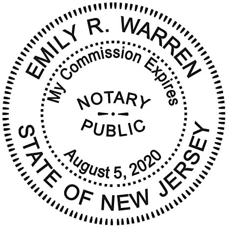 Amazon Round Notary Stamp For State Of New Jersey Self Inking