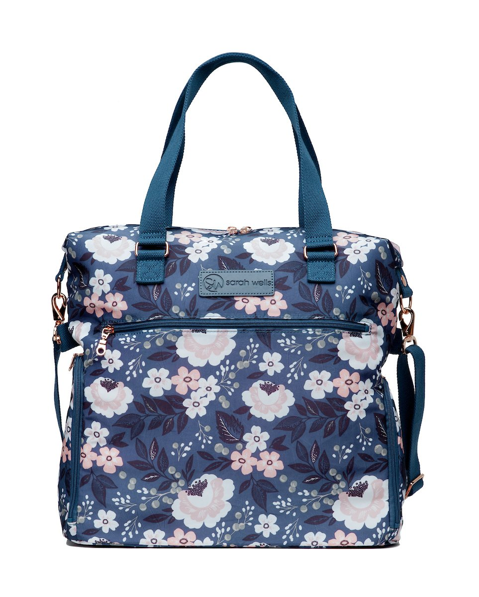 Amazon Com Sarah Wells Lizzy Breast Pump Bag Le Floral Baby