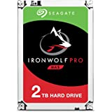 Seagate ST2000NE0025 2 TB IronWolf Pro 3.5 Inch 7200 RPM Internal Hard Drive for 1-16 Bay NAS Systems (128 MB Cache, 300 TB/Year Workload Rate, Up to 195 MB/s)
