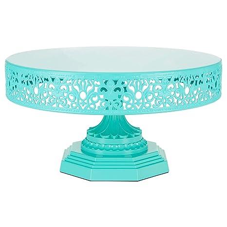 Amazon.com   Amalfi Decor 12-Inch Metal Cake Stand, Round Steel ...