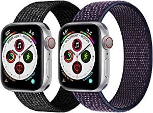 Nylon Bands Compatible with Apple Watch Bands 38mm 40mm Sport Band Compatible with Apple Watch Series 6 5 4 3 2 1 SE